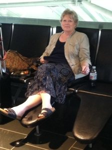 Relaxing in Boston Logan Airport