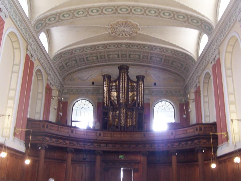 The organ/choir balcony