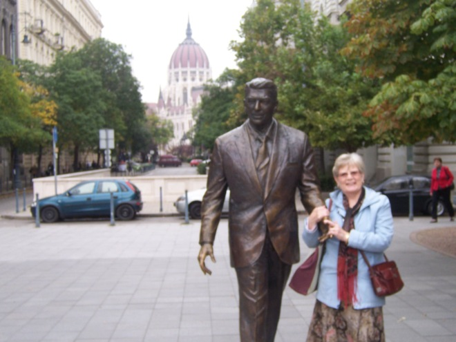 Patti with Ronald Reagan